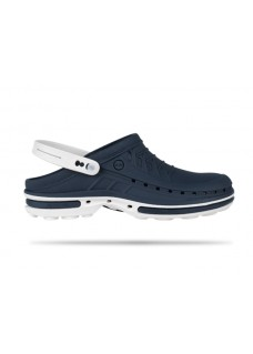 Wock Clog 03 White/Navy Blue