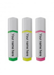 Highlighter 3 Pack Medical Symbols Pink
