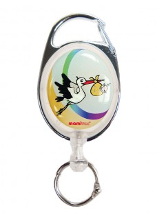 Deluxe  Retractable badge/ID Stork with carabiner
