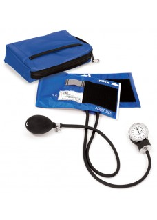 Premium Aneroid Sphygmomanometer with Carry Case Royal Blue