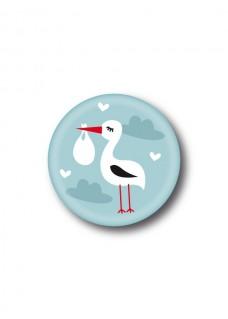 Button Stork Baby