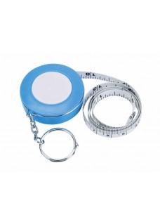Measurement Tape Key Ring Blue