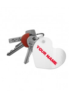 Key Chain Heart Best Nurse World with Name Print