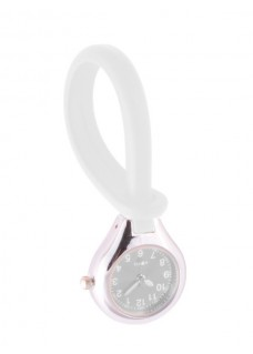 Silicone Hang Watch White