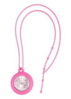 Silicone Lanyard Watch Pink