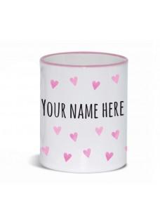 Mug Pink Hearts Pink