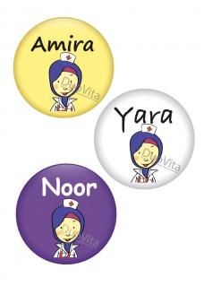 Button Nurse Headscarf