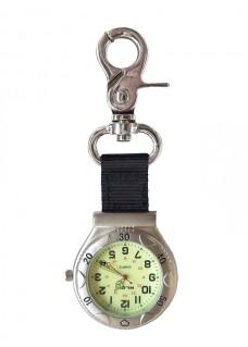 Nurses Carabiner Belt Watch NOC457 Silver