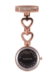 Fob Watch Love Rose Gold