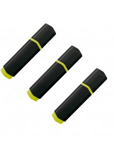 Highlighter 3 Pack Black Yellow