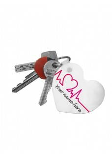 Key Chain Heart Beautiful Day with Name Print