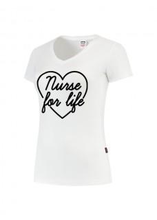 Womens T-Shirt Nurse For Life White