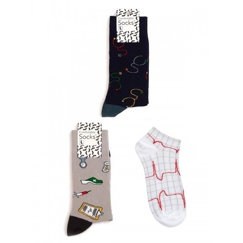 Nurse Womens Socks Set Medical Instruments