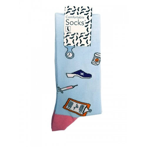 Happy Womens Socks Instruments Blue Pink