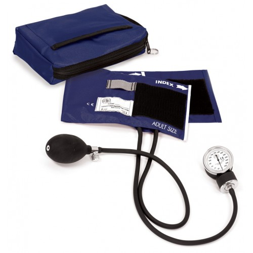 Premium Aneroid Sphygmomanometer with Carry Case Navy