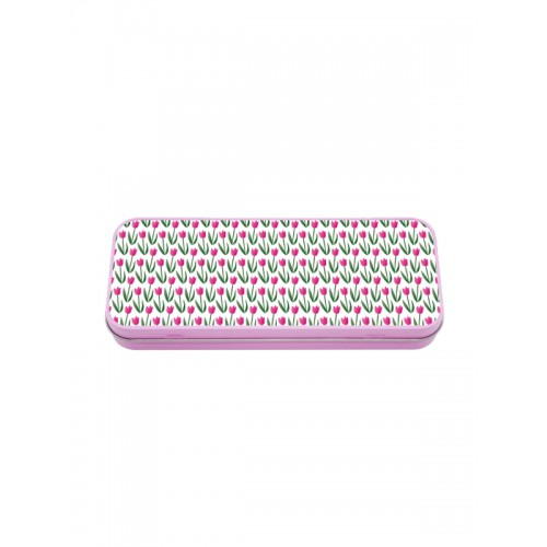 Metal Stationary Case Tulips