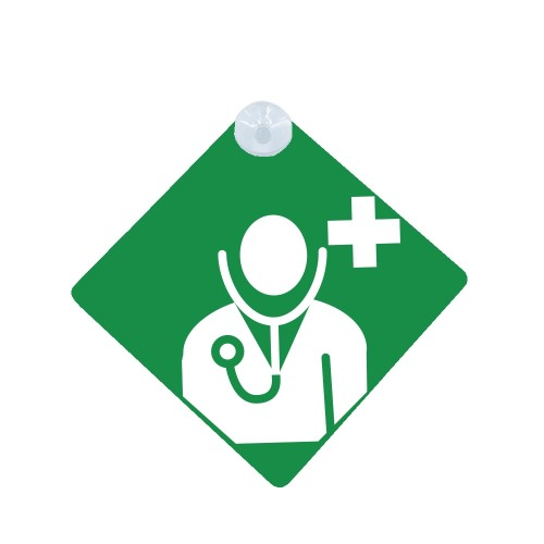 Car Sign Green Doctor