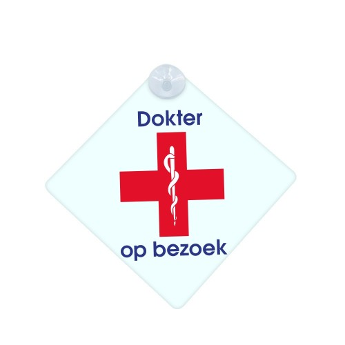 Car Sign Red Cross Doctor