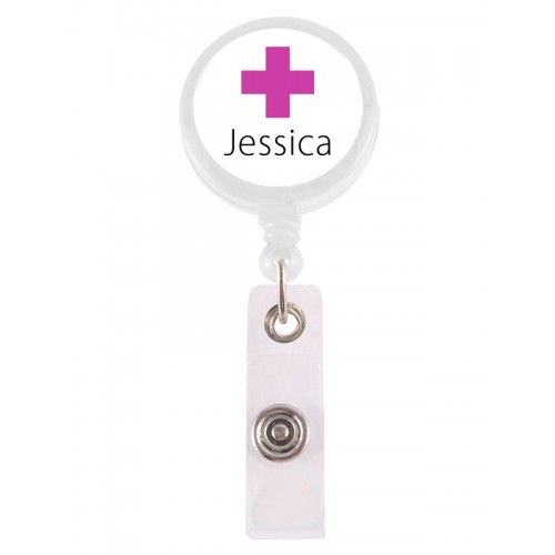 Retracteze ID Holder Cross with FREE name print