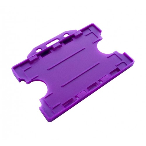 Card ID holder Purple Double Sided