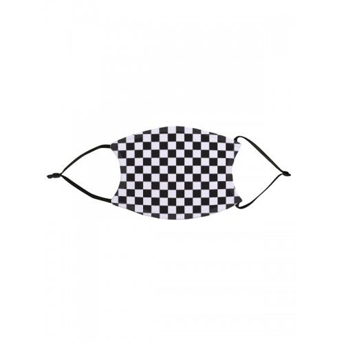 Face Mask Checkboard Black