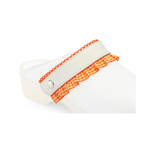 Click Straps Orange Frill