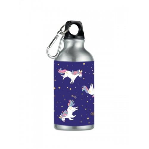 Drink Bottle Unicorn Silver