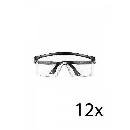 Hospitrix Safety Glasses Black 12 pcs