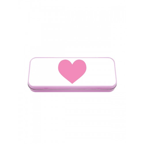 Metal Stationary Case Pink Heart