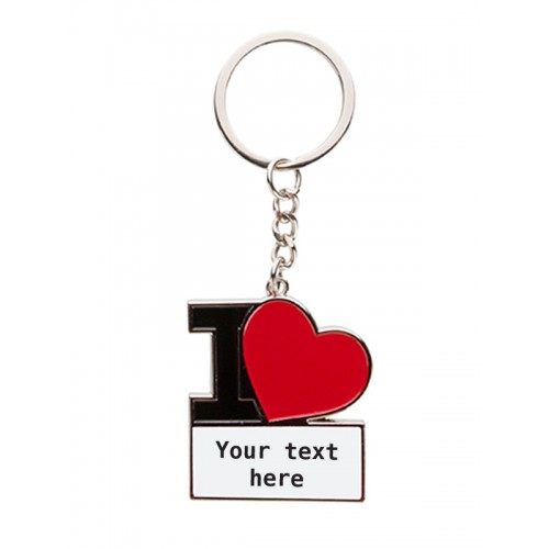 Key Chain I Love Nursingf with Name/Text Print
