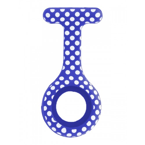 Silicone Cover Polka Dots Blue