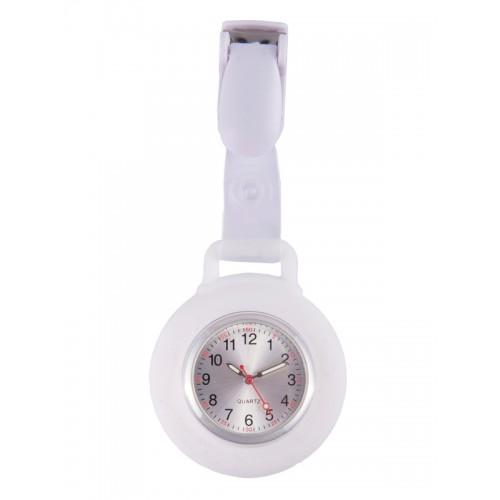 Silicone Nurses Fob Watch Clip White