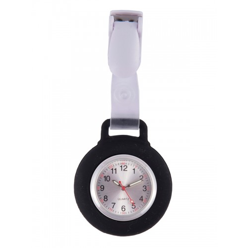 Silicone Nurses Fob Watch Clip Black