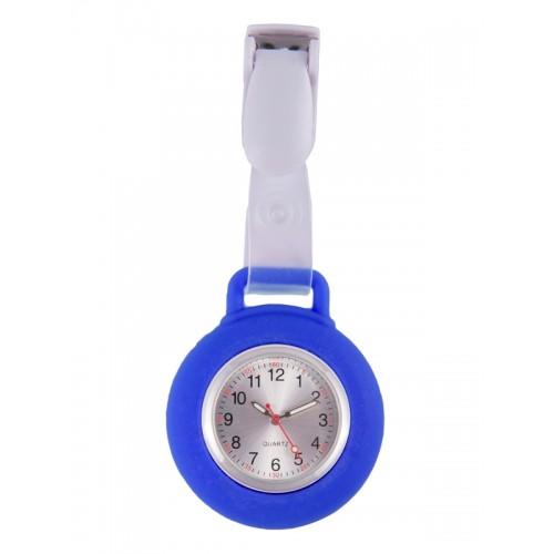 Silicone Nurses Fob Watch Clip Royal Blue