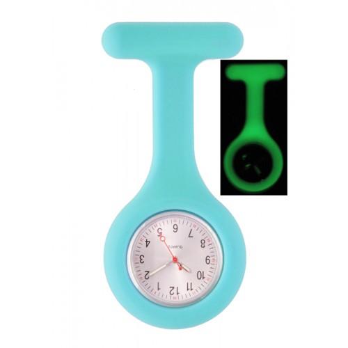 Silicone Nurses Fob Watch Glow Blue