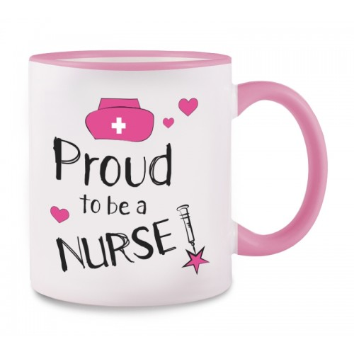 Mug Proud to be a Nurse 2 Pink
