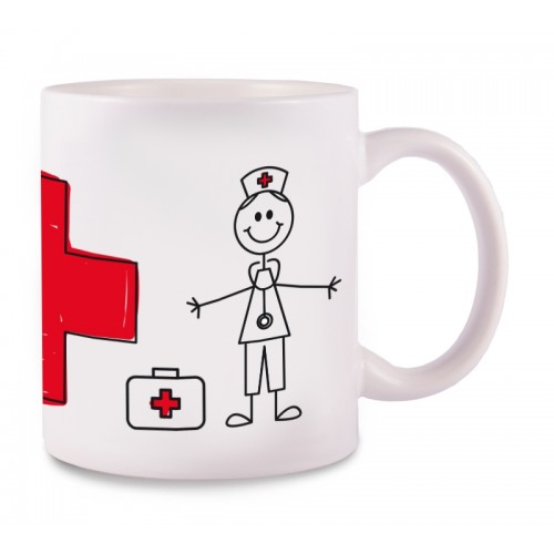 Mug Stick Nurse Cross