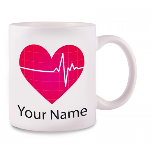 Mug EKG with Name Print