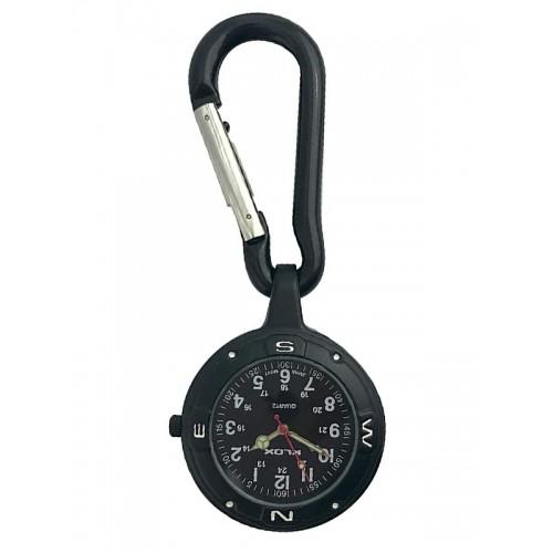 Nurses Carabiner Belt Watch NOC451 Stealth Black