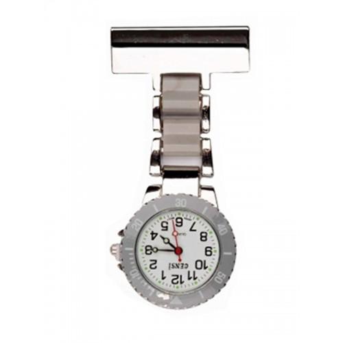 Nurses Fob Watch Silver Grey
