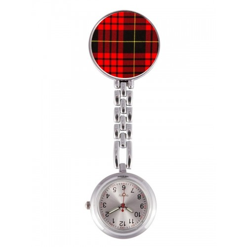 Fob Watch Tartan Red