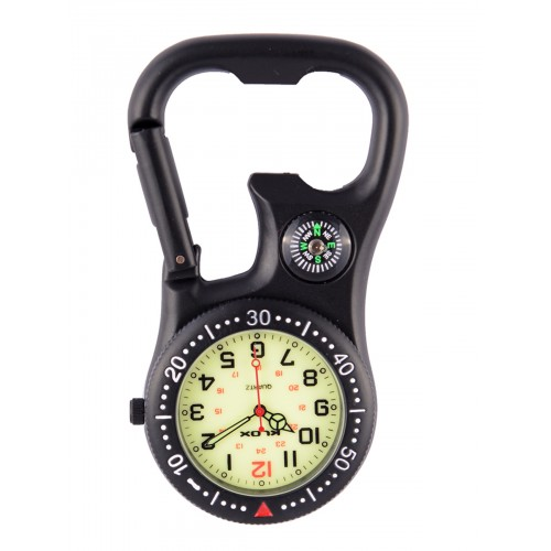 Carabiner Clip Watch NOC463 Stealth Black