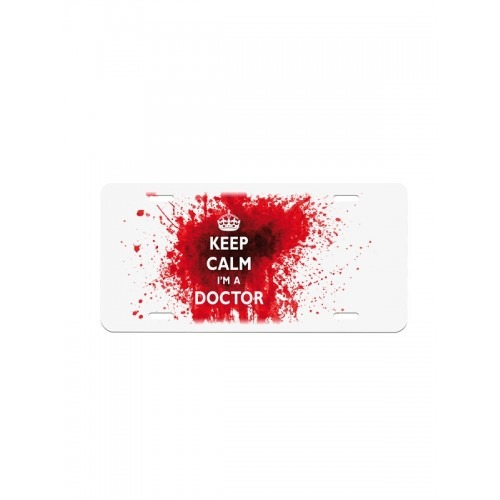 License Plate Keep Calm Doctor