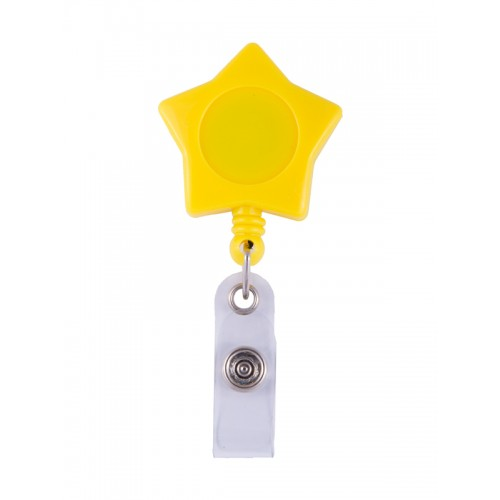 Retracteze ID Holder Yellow Star