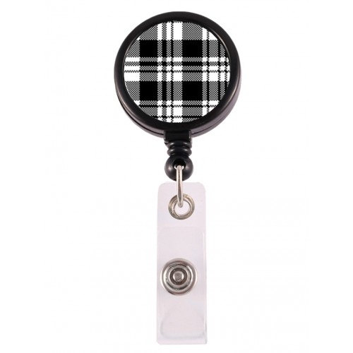 Retracteze ID Holder Tartan Black