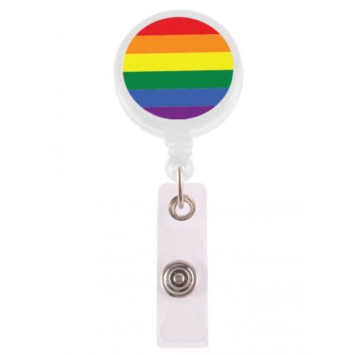 Retracteze ID Holder Rainbow White
