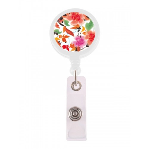 Retracteze ID Holder Asian Flowers