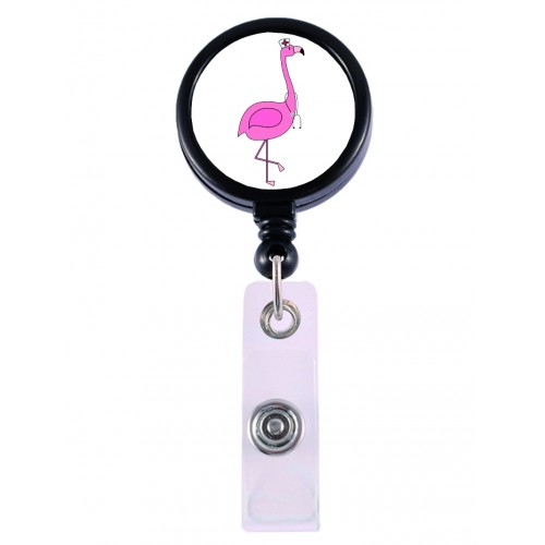 Retracteze ID Holder Flamingo