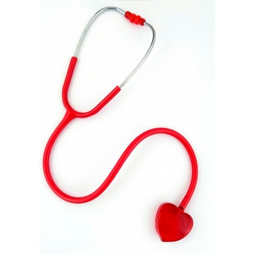 Stethoscope Clear Sound - Heart Edition Red