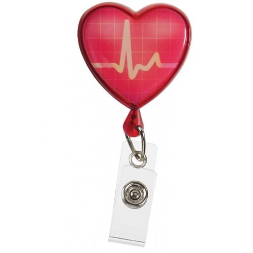 Retracteze ID Holder Heart ECG